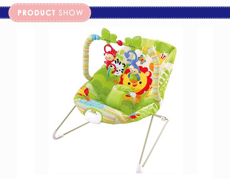 Tropical forest rocking chair baby with vibration