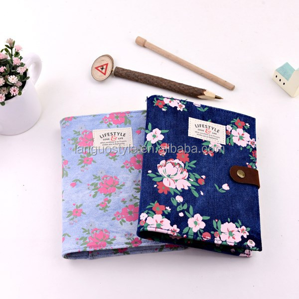 Professional custom design fabric cover notebook