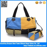 New arrival fancy cute cotton canvas travel duffel bag for girls