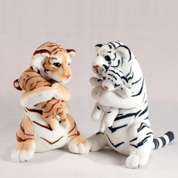 Hot Sale 3 Colors Mother and Child Tiger Stuffed Plush Toys