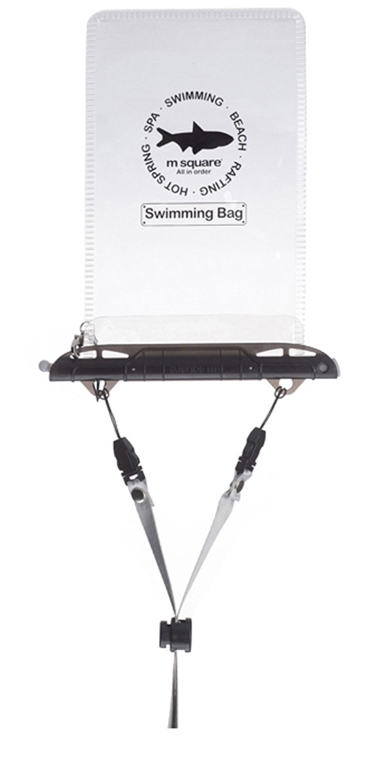 Get Quotations · M Square Universal Waterproof Case Pouch Bag Swimming Bag (Shiny  Black) 9971f237aa8b4