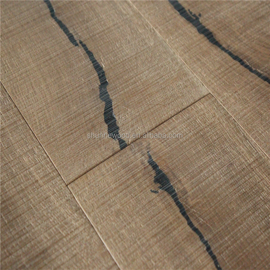 Rustic 1900mm Aged Oil Wood Flooring 6mm European Oak Veneer 240mm Wide Engineered Oak Wood Flooring