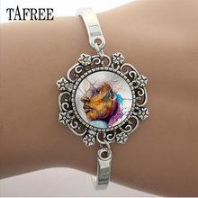 Кружевной браслет TAFREE для рукоделия, 15 мм, стеклянный кабошон, цепочка с куполом, для женщин, девушек, вечеринок, ювелирных изделий, подарок ...(Китай)