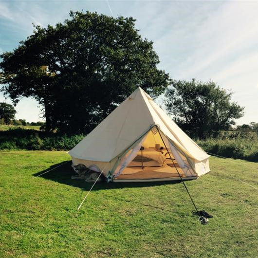 Glamping Luxury 6m 5m 4m Fireproof Canvas Bell Tent With