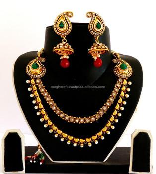 Großhandel Indian Ein Gramm Goldschmuck South Indische Pfau Schmuck Indische Braut Schmuck Bollywood Mode Schmuck Buy Indische Braut Goldschmuck
