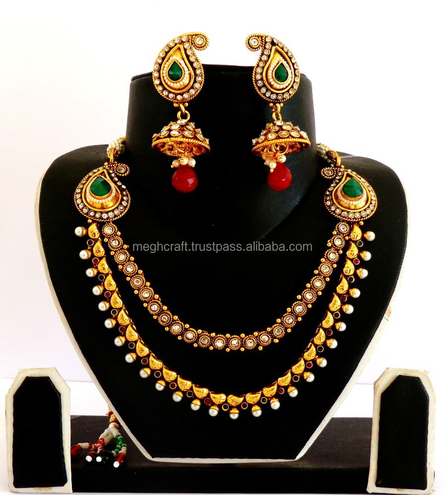 Sets Bollywood Style Indian Rose Gold Fashion Jewelry Designer Bridal Necklace Set Wvpd Org