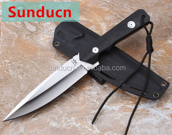 9Cr18Mov Satin Blade G10 Handle Strongarm Fixed Blade Knife Hunting knife with Kydex Sheath