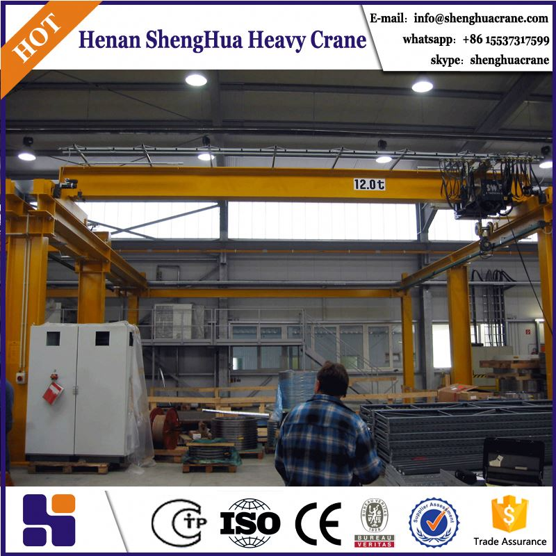 widely used 25t single girder overhead bridge crane manufacturers with electric hoists