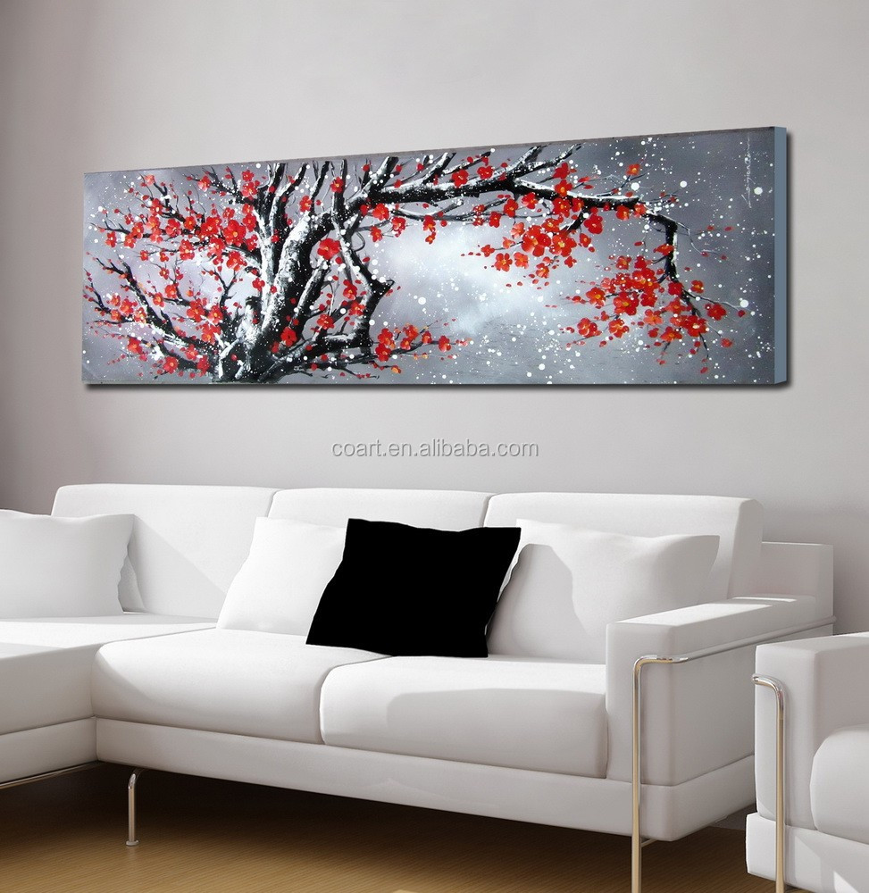 Chino pintura abstracta con textura canvas wall art
