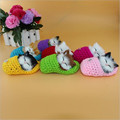 Kawaii 1pcs Super Cute Simulation Sounding Shoe Kittens Cats Plush Toys Press To Sound Kids Birthday