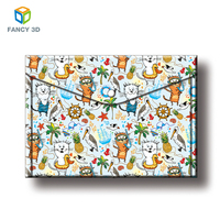 Zebulun Wholesale Beautiful Sheets Plastic 3D PP PET Lenticular A3 Size File Folders