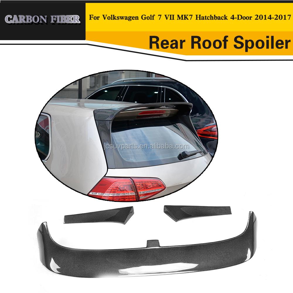 carbon fiber rear spoiler for volkswagen golf 7 vii buy. Black Bedroom Furniture Sets. Home Design Ideas