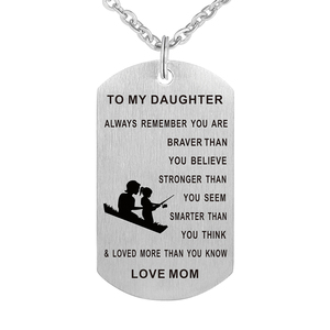 Stainless steel Mom and Daughter Army Dog Tag