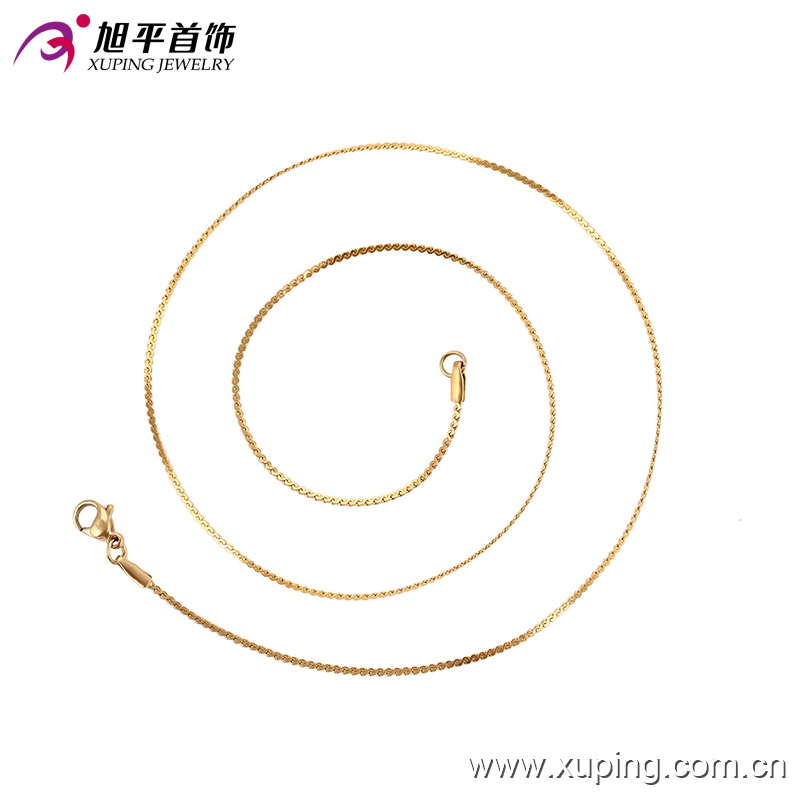 xuping fashion jewelery 18K gold color unisex necklace 42876