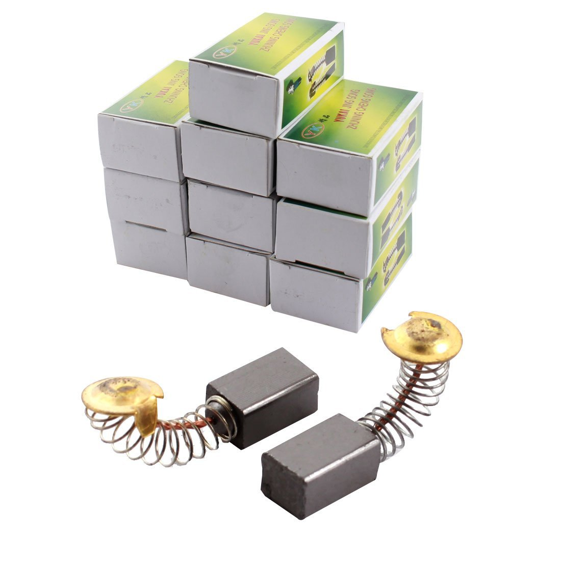 10 Pairs Universal Electric Motor Replacing Carbon Brushes 8x7x12mm
