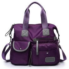 Многофункциональная нейлоновая сумка для багажа, женская сумка на плечо, модная большая женская сумка-тоут, Женская дорожная сумка с рюшами(Китай)