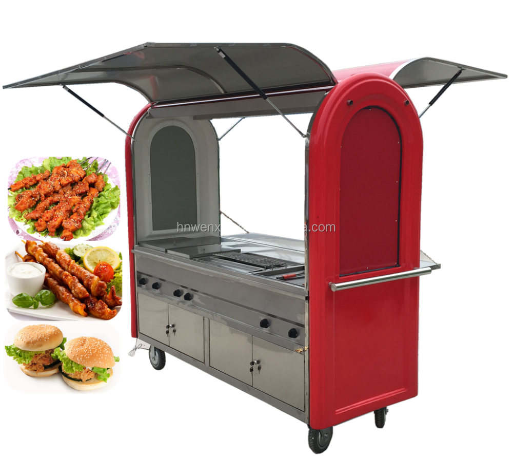 Custom street fast food trolley