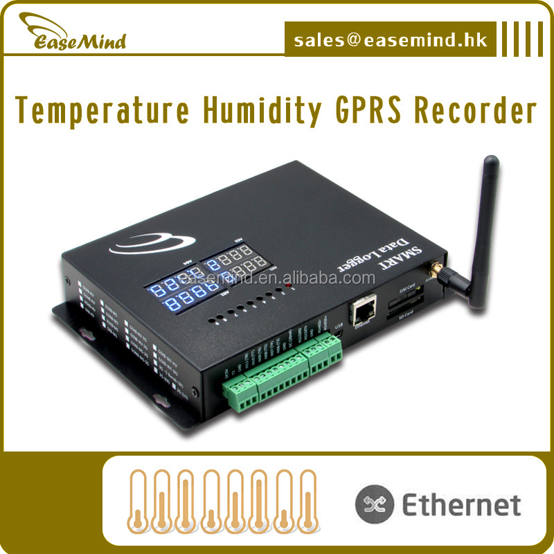 Temperature Humidity GPRS Recorder monitoring of ultra-low freezers, freezer/refrigerators