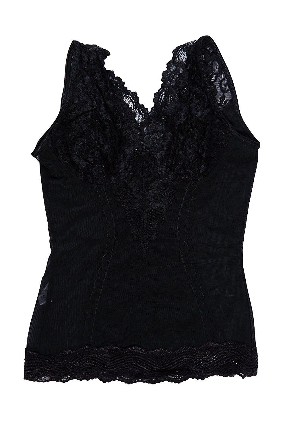 7f9d5a4cd66b9 Get Quotations · Womens Sexy Lace Deep Plunging Neckline Shapwear Camisole  6736