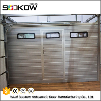 Automatic Sectional Garage Door With Pedestrian Door For ...