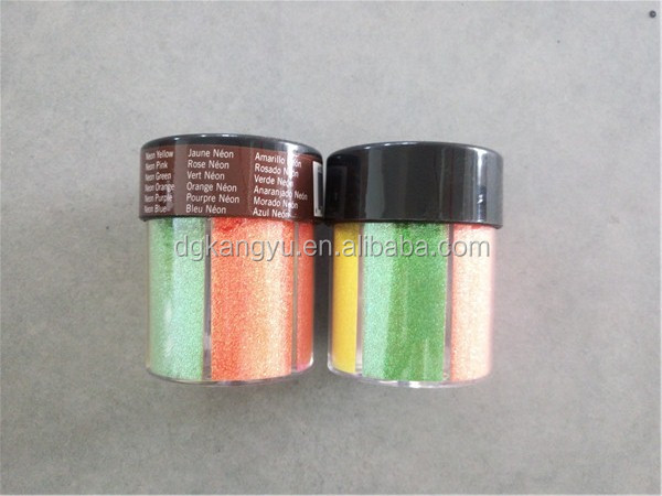 80g bottle package metallic PET glitter shaker