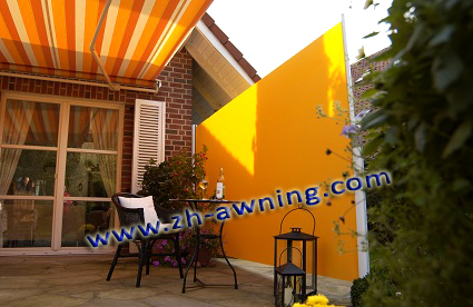 Outdoor garden decoration windproof folding screen vertical blind sun shade retractable side awning tent awning