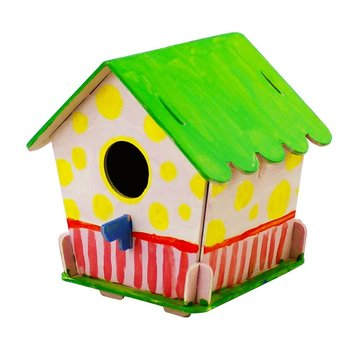 DIY 3D wooden puzzle bird house