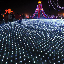 Customized outdoor CE and ROHS standard RGB led net lighting, led lighted net