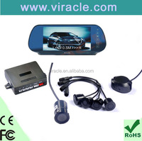 High resolution rearview mirror with parking assist sensor system