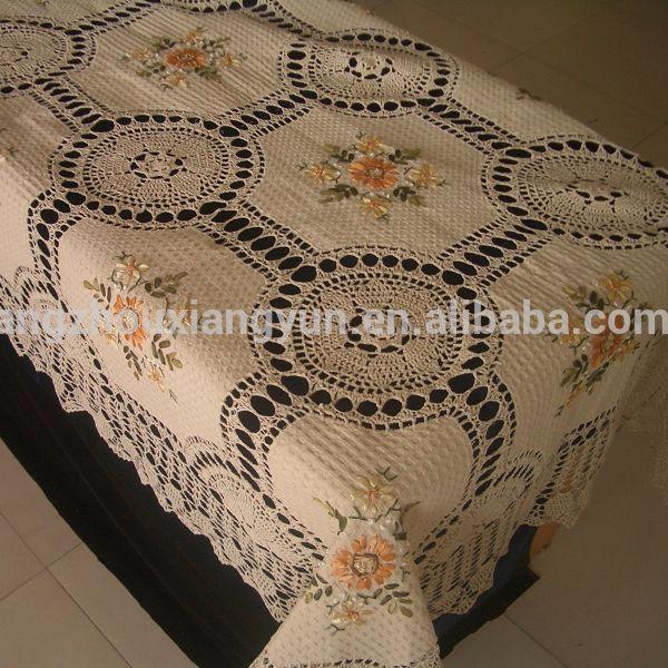 100 Cotton Ecru Handmade Crochet Table Cloth Buy Crochet Table Cloth Beaded Table Cloth Vintage Crochet Tablecloth Product On