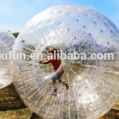 High quality and giant for adults play sports plastic toy zorb ball ground or grass rolling ball for sale