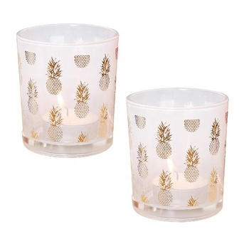 glass tea light frosted glass votive candle holders