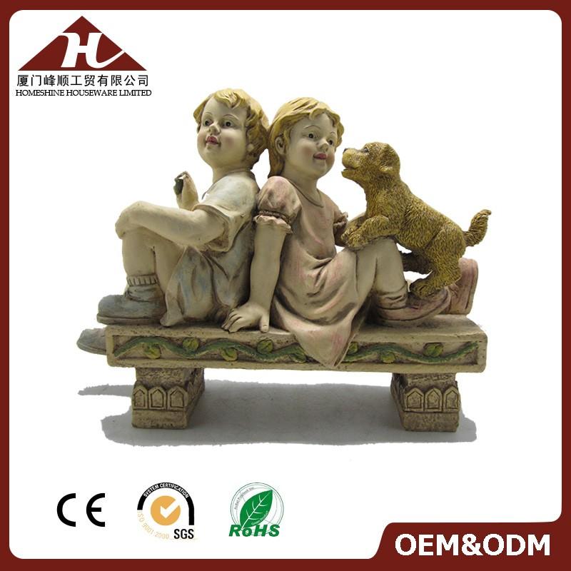 vanjska dečija vrtna statua sa psom