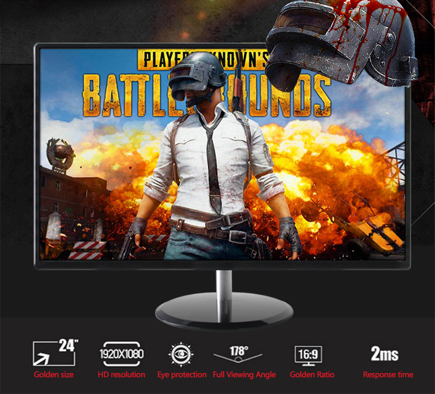 Free Sync 24 inch 1080p 144hz monitor gaming with HD DP input