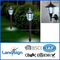 cixi landsign 1 year warranty LED sensor lights nobleness with PIR sensor solar garden led lights
