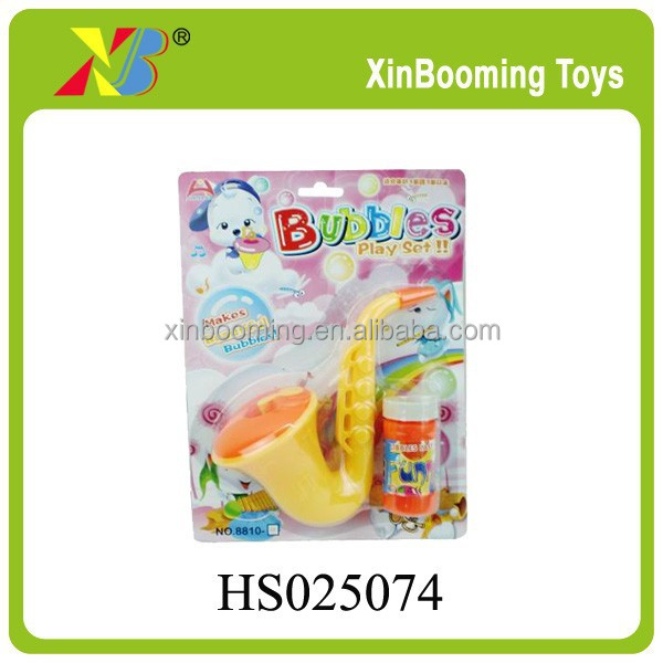 Plastic Saxophone Bubble Play Set