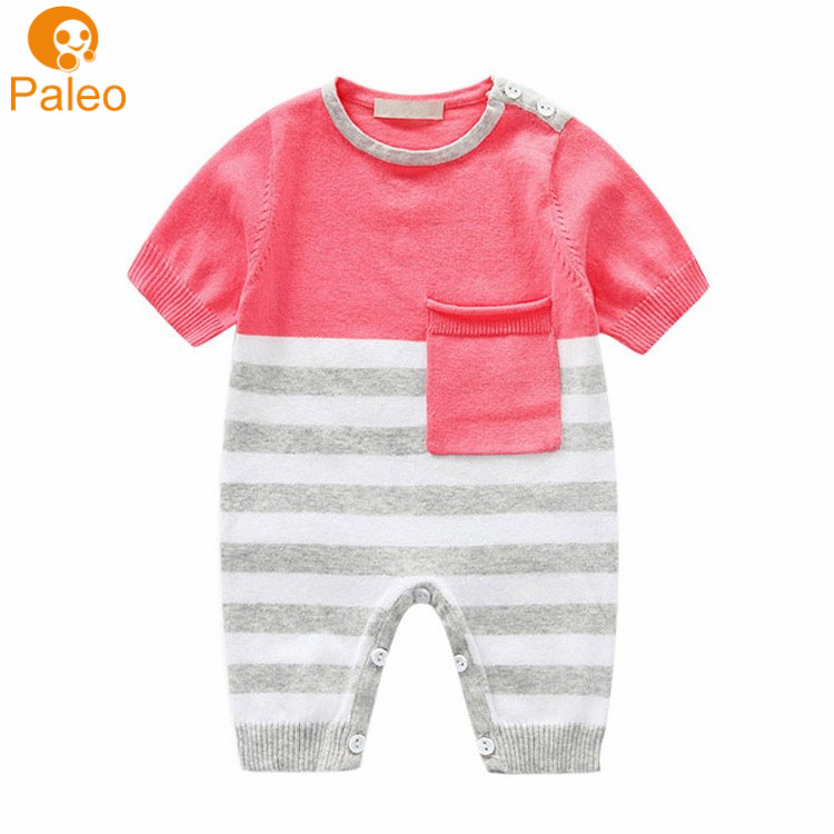 Factory OEM Lovely cute children clothing newborn baby clothes baby summer jumpsuit фото