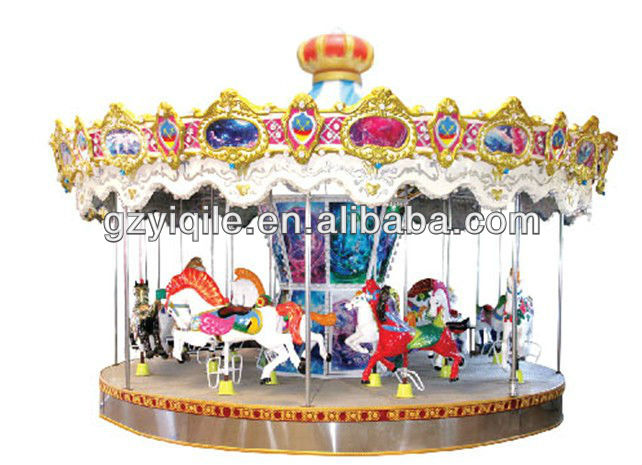 Attractive amusement park rides electrical toy carousel