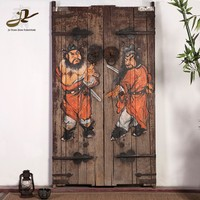 antique chinese painting solid wood door