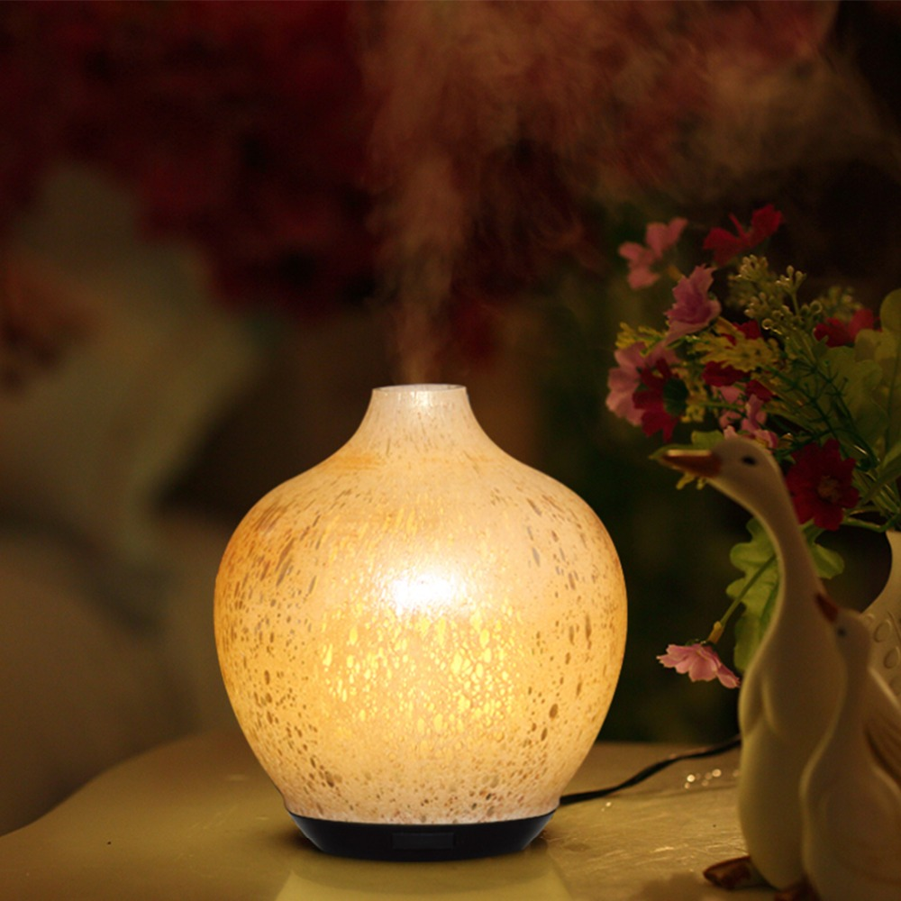 Creative Design Color Changing Electric Aroma Diffuser Lamp 120ml Aroma Diffuser Glass Art Aroma Diffuser