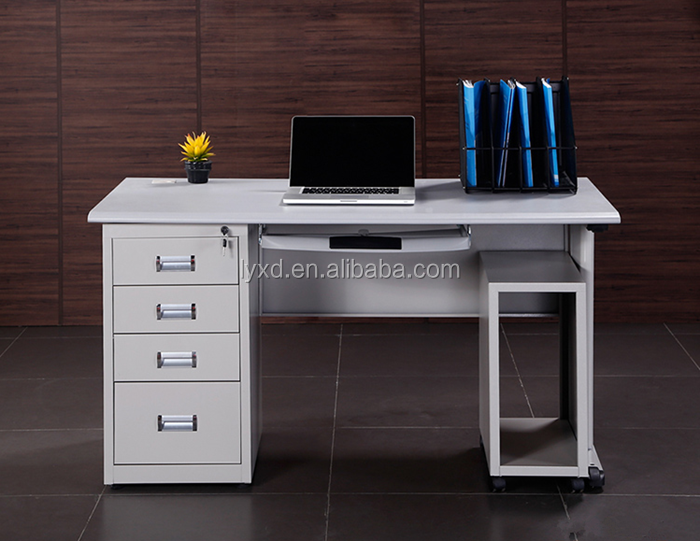 KD structure office computer desk home reading table metal kids writing desk