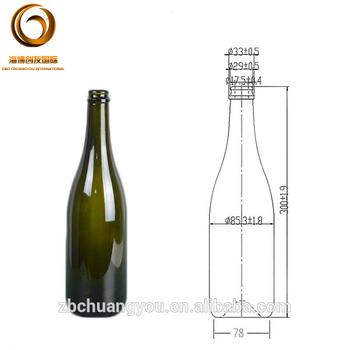 750ml custom made champagne glass wine bottle with cork top finish wholesale buy champagne - Bottiglie vetro ikea ...
