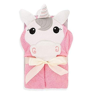 Personalized Custom Cheap Swimming Bath Cute Pink Kids Newborn Baby Girl Hooded Soft 100 Organic Bamboo Towel With Hood