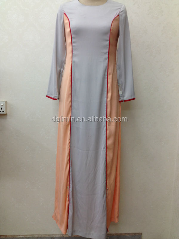 plain chiffon stitching turkish kaftan