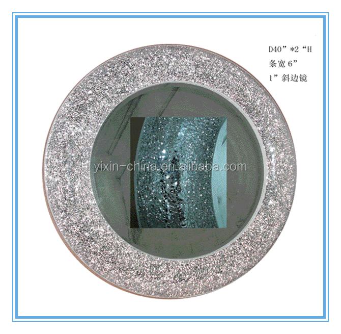 Argent d coratif cristal mosa que ovale salle de bains for Miroir concave