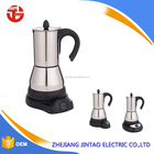 Stainless steel electric moka coffee pot espresso coffee machine