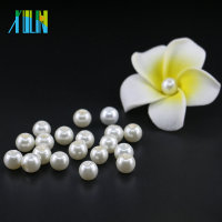 6mm Fashion Jewelry Making Beads UA02 Off White Bead Glass Pearl with Ivory Round