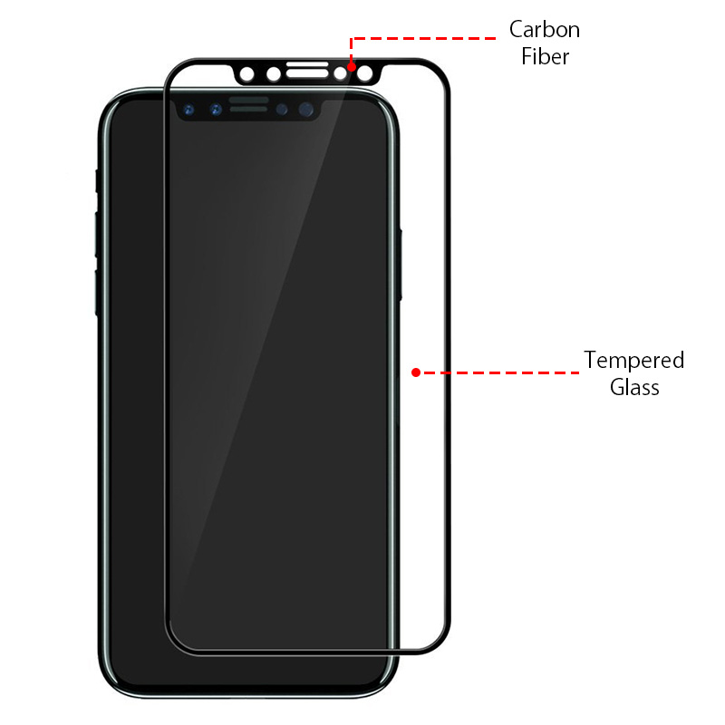 high quality New Product Full Covered 3D Tempered Glass Screen Protector For iPhone X