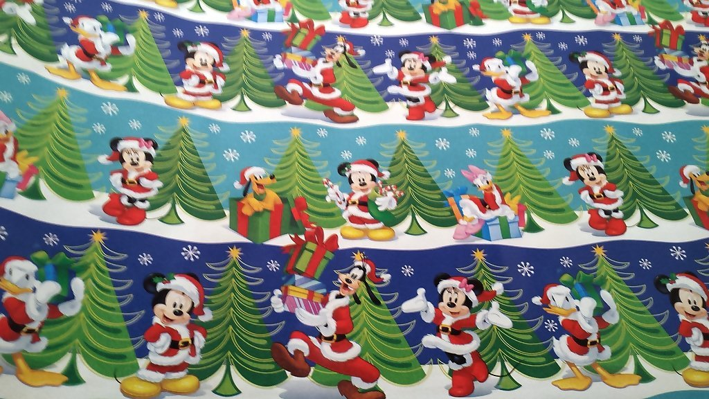 christmas wrapping santa hat mickey mouse donald duck holiday paper gift greetings 1 roll design festive