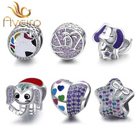 New 925 sterling silver pave charms beads fit pandoras charms bracelets wholesale women fashion jewelry
